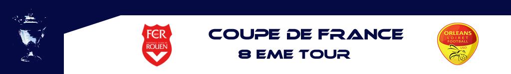 8e TOUR DE LA COUPE: LE FCR RECEVRA ORLEANS (L2)
