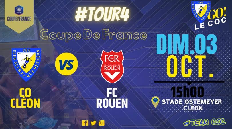 Read more about the article Coupe de France: CLEON (R2)/ FC ROUEN (N2)